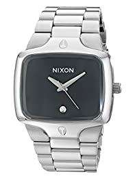 Nixon Men's NXA140000 Stainless Steel Black Dial Watch