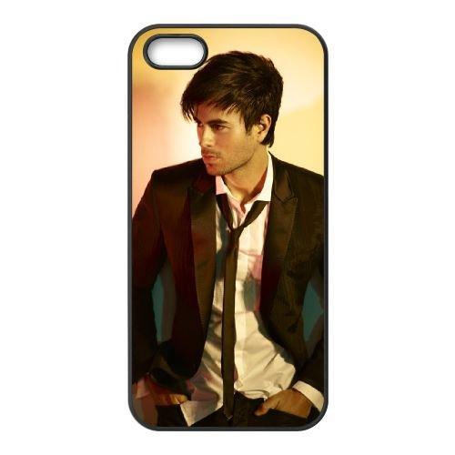 Enrique Iglesias 007 coque iPhone 4 4S Housse téléphone Noir de couverture de cas coque EOKXLLNCD16435