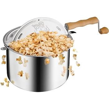 Great Northern Popcorn Original Spinner Stovetop 6-1/2-Quart Popcorn Popper