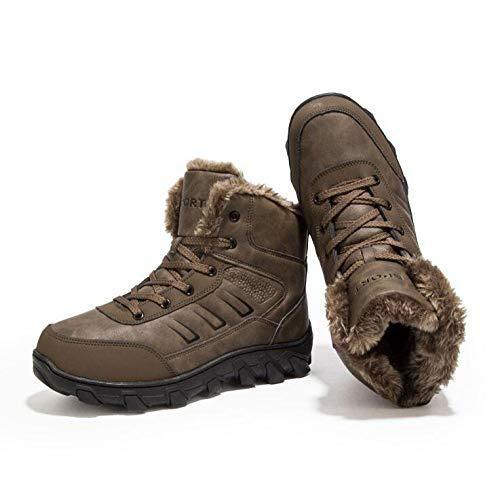 Gomma Gomma Stivali Stivali Stivali Fodera Brown 12 6 in Caviglia 11 Esterno con 12 Pelle Dimensioni UK10 in per Pelliccia 5 US11 5 in Cinturino per Impermeabile alla EU45 Camminare E Uomo qxwZzfd1z