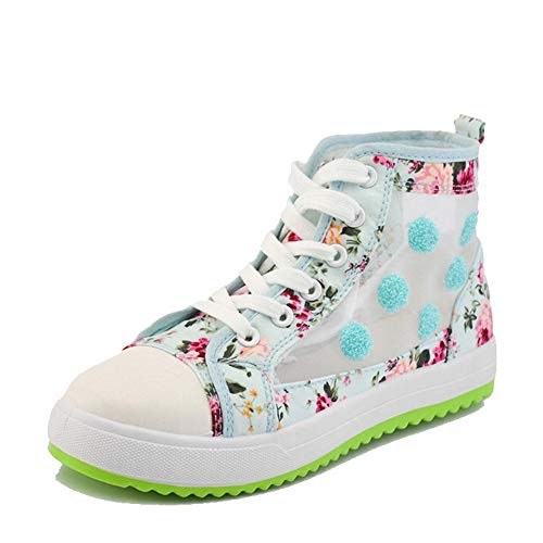 Chaussures Légeres Talon Rond Agoolar À Gmbda015761 Bleu Bas Femme Lacet 04qYZ6A