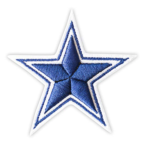 3D Dallas Cowboys Star Embroidered Iron On Patch (Cowboy Patches)