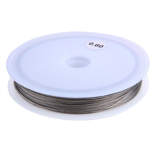 Ecloud ShopRoll Silver Tiger Tail Beading Wire Cord Thread 0.6mm (Tiger Tail Cord)