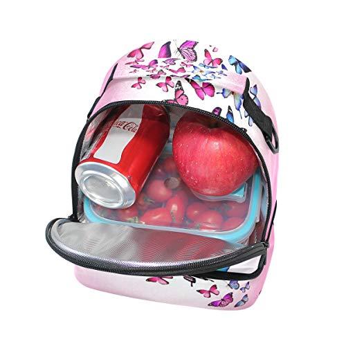 de con de hombro para rosas almuerzo la el con Bolsa pincnic Alinlo ajustable aislamiento escuela de mariposas correa para qFTtnwA