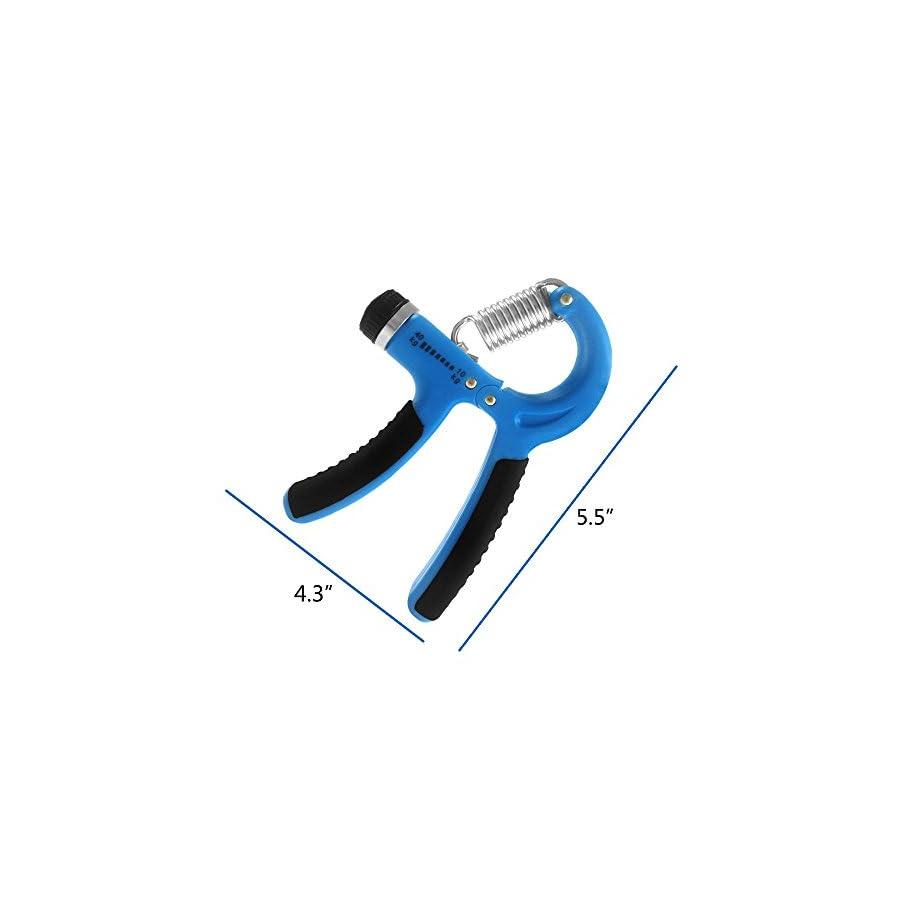 DONGJI Hand Grips Strengthener, Adjustable Resistance 22 88 Lbs, Hand Exerciser Strength Trainer Hand muscle Developer , Build Hand Finger Wrist and Forearm Strength Easily
