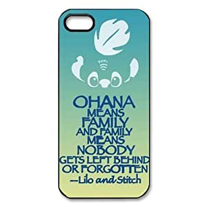 Personalized Design Ohana Pretective Hard Case Cover for Iphone 5/5S Case ,Durable Shell Ohana Iphone 5/5S Case by lolosakes