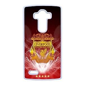 Teléfono celular de LG G4 caso funda blanca Liverpool Logo S2K7ZE