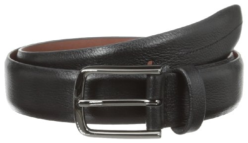 Perry Ellis Men's Park Ave Belt, Black, 38 (Dressy Leather Belt)