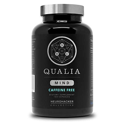 Qualia Mind Nootropic   Premium Brain Booster Supplement for Memory, Focus, Clarity and Concentration Support with Bacopa monnieri, Ginkgo biloba, DHA, Alpha GPC, B12 & More (154 Ct Caffeine-Free)
