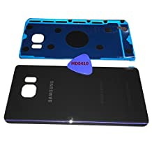 (md0410) Galaxy Note 5 OEM DARK BLUE Rear Back Glass Lens Battery Door Housing Cover + Adhesive + Opening Tool Replacement For BLACK SAPPHIRE N920 (Fit all carriers)