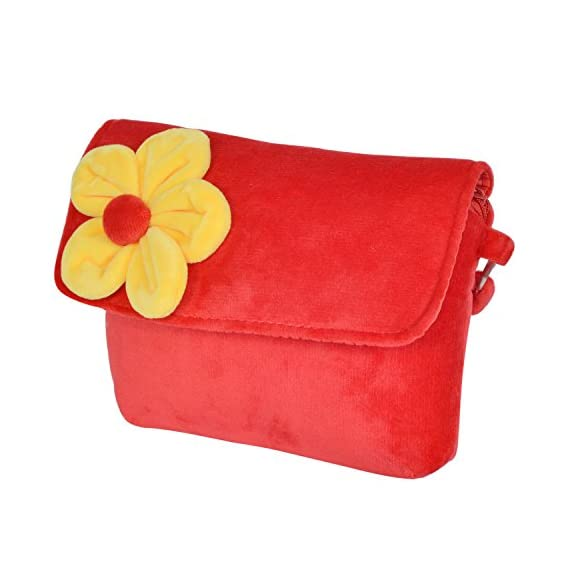 Chords Cute Red with Yellow Flower Sling Bag for Girls