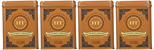 - Harney & Sons Decaffeinated Hot Cinnamon Black Tea with Orange and Sweet Cloves Tin 20 Sachets - Pack of 4