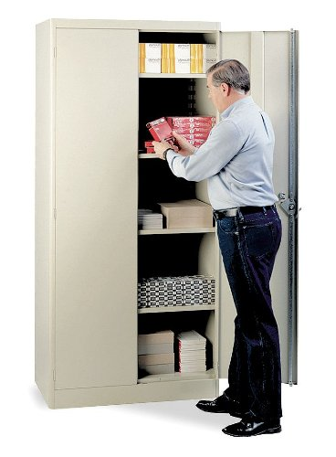 (Lyon PP1091 1000 Series Storage Cabinet with 4 Shelves, Steel, 36