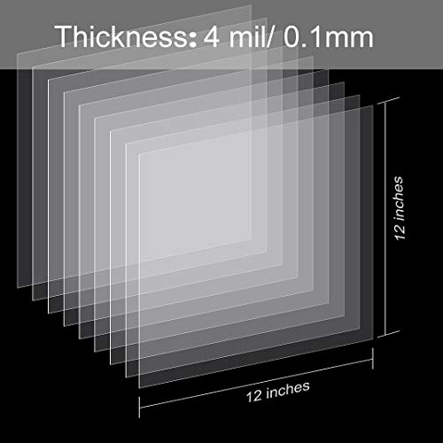 25 Pieces 4 mil Blank Stencil Material Mylar Template Sheets for Stencils, 12 x 12 inches