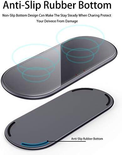 IPhone 11/11のPro / X/のX最大/XR / 8プラス/サムスンS10 / S10 + / S9 / S9 + / S8 + /注9との互換性パッド、チー認定15Wのワイヤレス充電器を、充電デュアル無線