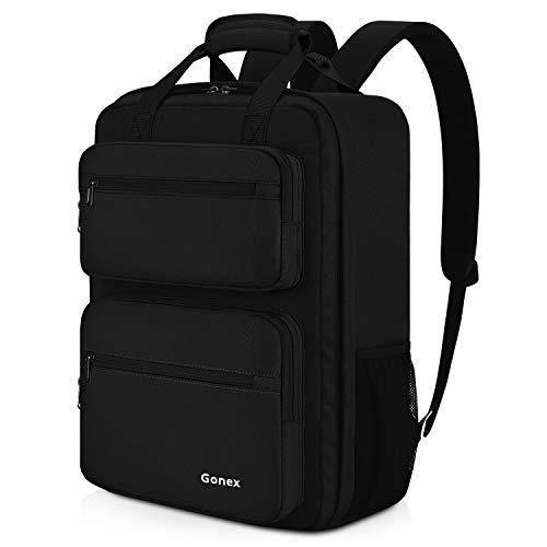 Gonex 35L Travel Backpack, Durable & Water-repellent Oversized Backpack with Multiple Pockets for Travel, Hiking, Camping Black (Best 35 Liter Backpack)