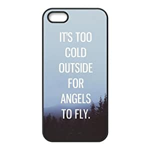 iPhone 5S Protective Case - Inspirational Life Quotes of Ed Sheeran Hardshell Carrying Case Cover for iPhone 5 / 5S