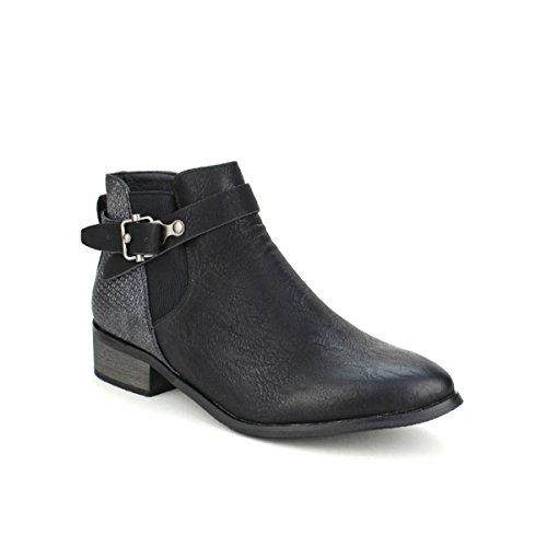 Bottines Femme Moda Noir Sperces Noires Cendriyon Chaussures ZwXqSd6xZ