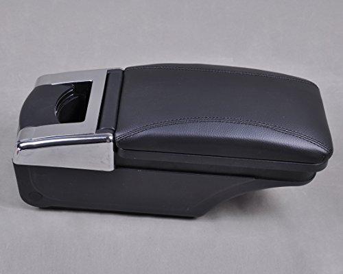 Leather Center Console Armrest Storage Box FIT for 2007-2011 Nissan Versa/Tiida/Latio