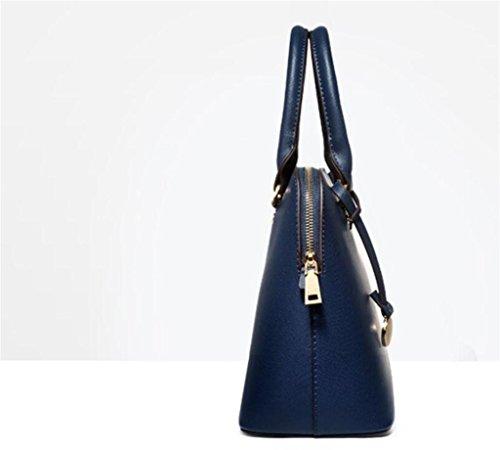 Negro Mensajero Bolsa Sencilla Blue Trabajo Azul Simple Señora De Bao Compras Hombro La Shell TpfqPC
