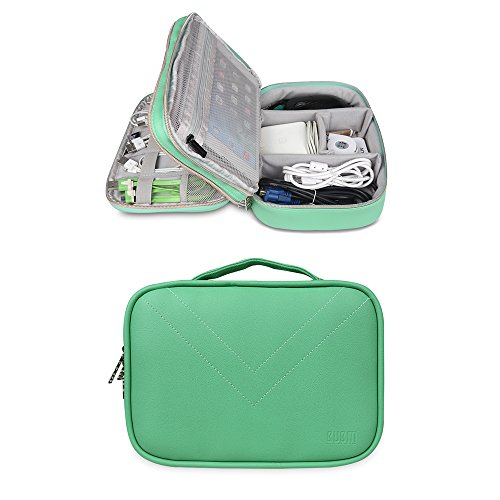 Bubm Portable Multi Functional Digital Storage Bag Electronic Accessories Travel Organizer Bag Data Cable Organizer  Green
