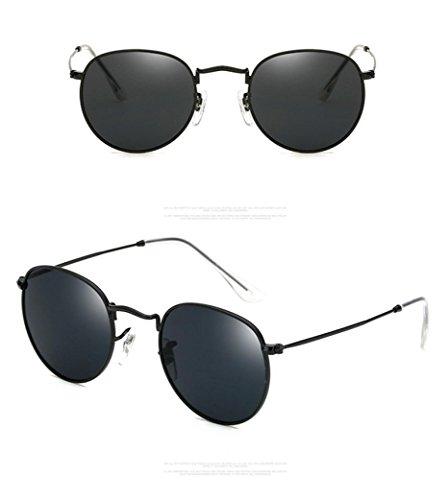 Unisex Sonnenbrille, Falten Platz Vintage gespiegelten Brillen Outdoor Brillen A