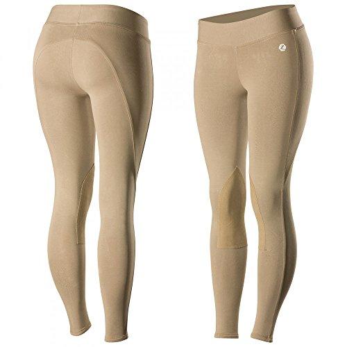 Horze Spirit Womens Knee Patch Active Tights, Brown, - Breeches Leg Patch