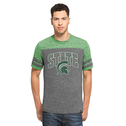 NCAA Michigan State Spartans Men's '47 Neps Football Tee, X-Large, Vintage Grey