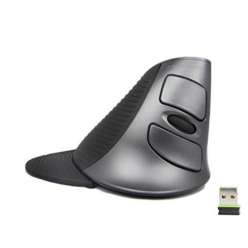 J-Tech Digital Scroll Endurance Wireless USB Mouse with Adjustable Sensitivity (600/1000/1600 (Ergonomic Usb)