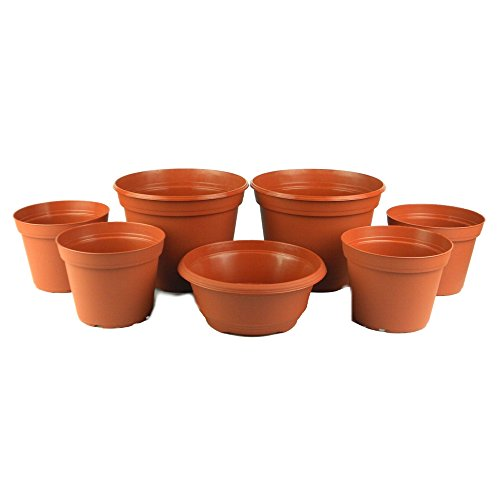 Cascade Collection 6in. to 8in. Poly Planter Set