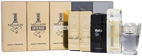 Paco Rabanne Colonia En Miniatura, Mini Set para hombre, 5 unidades, One Million, Invictus, Xs Black