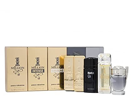 Paco Rabanne Colonia En Miniatura, Mini Set para hombre, 5 unidades, One Million