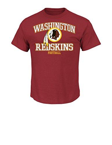 NFL Washington Redskins Men's Greatness Tee, Dark Garnet, X-Large (Nfl Washington Redskins T-shirt)