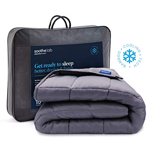 Cheap Soothe Lab Cooling Weighted Blanket | 100% Bamboo Viscose | 15 lbs for 110-170 lbs Individual 60