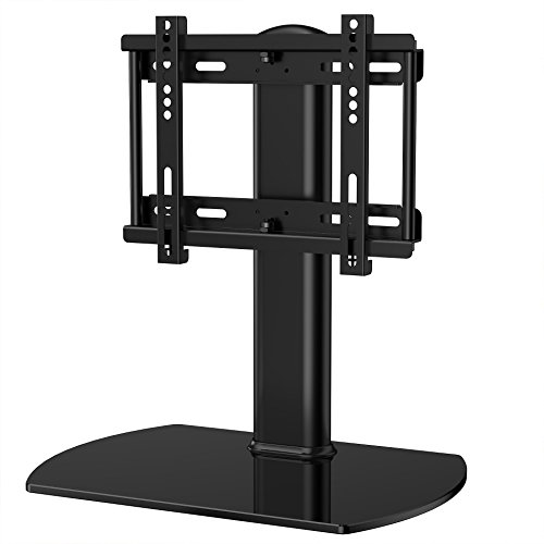 FITUEYES TT104001GB Universal TV Stand/Base Swivel Tabletop TV Stand with mount for up to 32 inch Flat screen Tvs/xbox One/tv Component/Vizio TV.