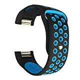For Fitbit Charge 2 Bands, feuy Adjustable Replacement Accessory Sport Silicone Breathable Band for Fitbit Charge 2 HR Smartwatch Fitness Wristband Small & Large