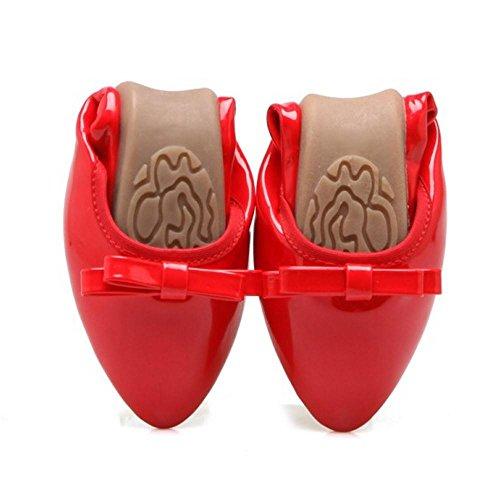 de Tacon RAZAMAZA Mujer Plano Para Zapatos Comodos Red xTBtE