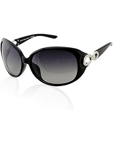 eb87f84eed3f8 DUCO Damen Sonnenbrille polarisiert Klassisch Stern 100% UV-Schutz 1220