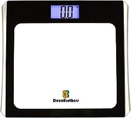 DecoBros Digital Bathroom Body Weight Scale w/ Large Display, Step-On Startup
