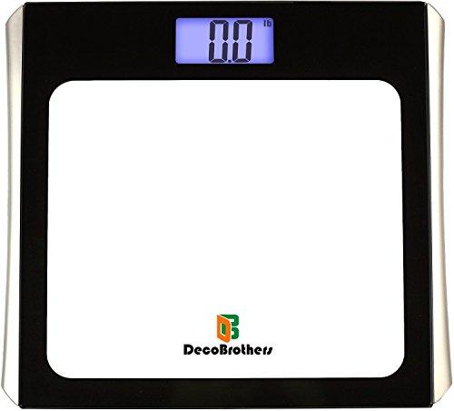 DecoBros Digital Bathroom Body Weight Scale w/ Large Display, Step-On ()