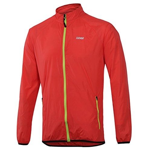 Cuzaekii Mens Windproof Cycling Jacket MTB Bike Clothing Outdoor Sports Running Hiking Wind Coat free shipping