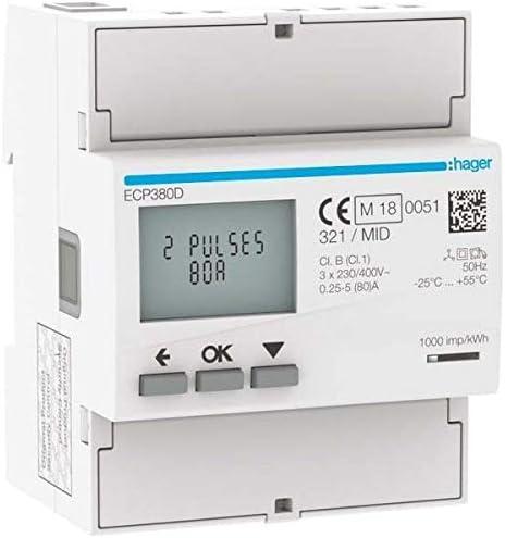 Hager ECP380D Compteur d/énergie 3 phases
