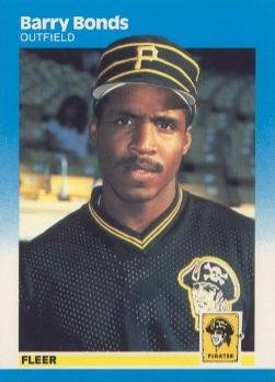 (1987 Fleer Baseball #604 Barry Bonds Rookie Card)