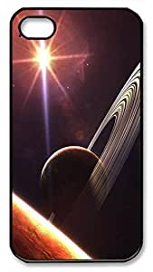 Planet Saturn Protective Hard Plastic Back Fits Cover Case for iphone 4 iphone 4s -1122038