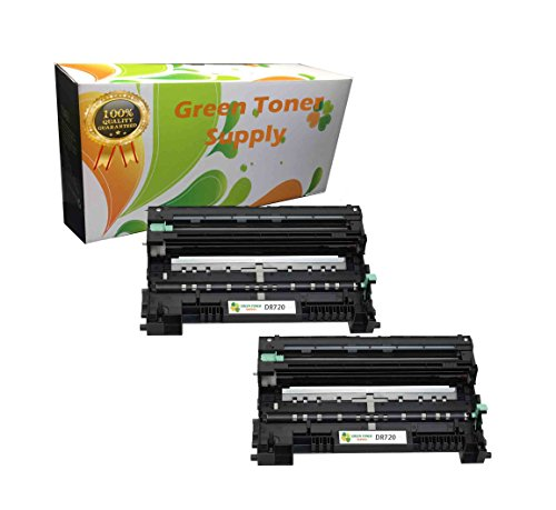 Green Toner Supply Compatible Drum Cartridge Replacement for Brother DR720 (Black, 2-Pack) ()