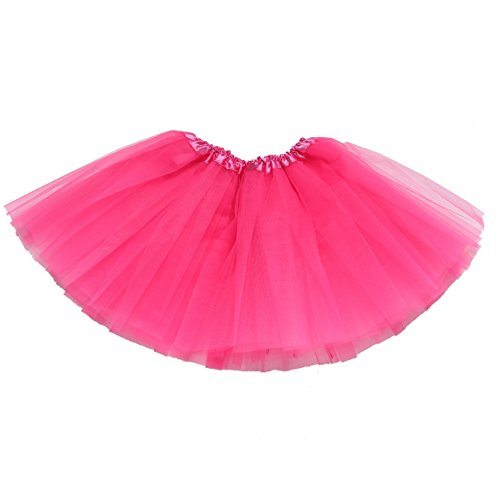 [GOODTECK Newborn Infant Baby and Girl's professional 3 Layers Dance Tutu Tulle Skirt (6-24month, hot] (Tutu For Toddler)