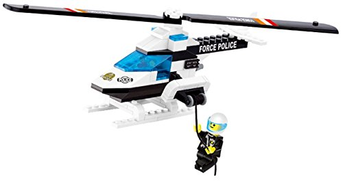 Police Series Helicopter 112 Pcs Building Block Set SWAT Special Force with Hi-Speed Armoured Chopper, dangling officer in uniform - exciting gift for Kids 6+, - Original Swat Classic Uniform