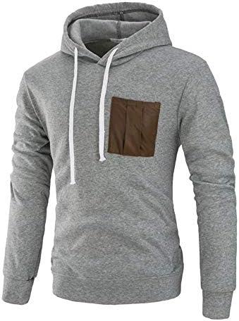 Nihewoo Men Hoodie Novelty Coats Pullover Work Blouse Jumper Autumn Tops Sweater Junior Outwear Sport Shirts Hooded