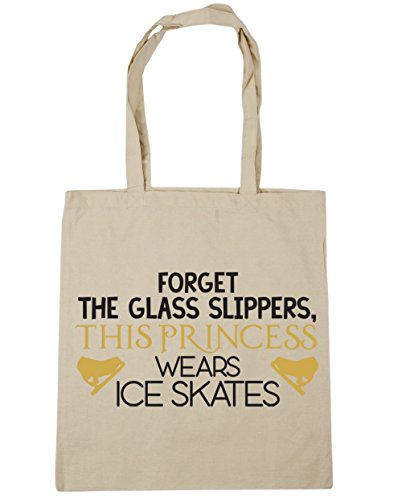the 42cm princess HippoWarehouse Forget slippers Tote Gym wears x38cm Beach Natural ice 10 litres Shopping this glass Bag skates 5wBqwg