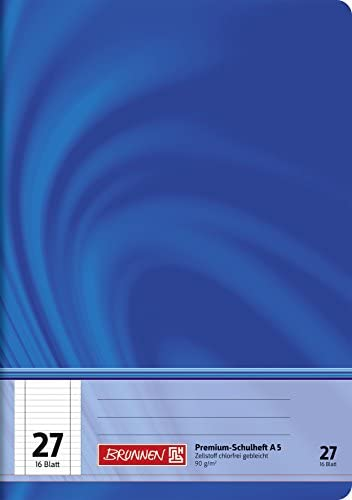 Brunnen 104572702 Schulheft A5 Vivendi (16 Blatt (32 Seiten), liniert, mit Rand, Lineatur 27)
